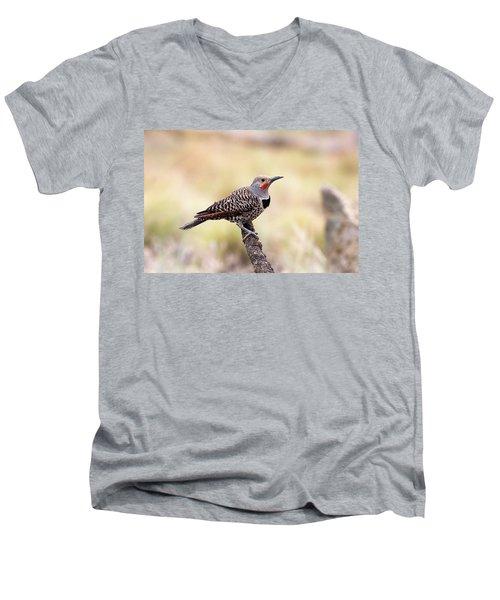 Redshafted Northern Flicker Men's V-Neck T-Shirt