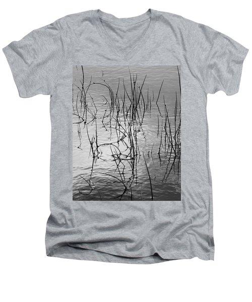Reeds Men's V-Neck T-Shirt by Art Shimamura