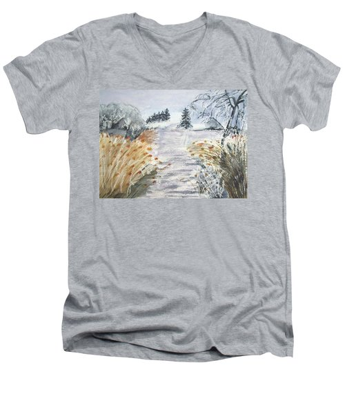 Reeds On The Riverbank No.2 Men's V-Neck T-Shirt