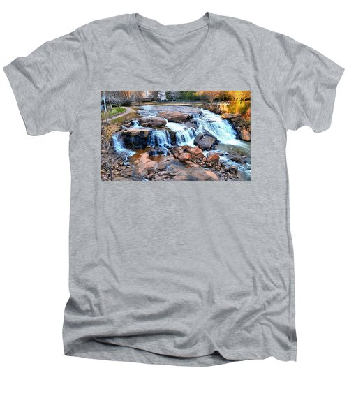 Reedy River Falls Men's V-Neck T-Shirt