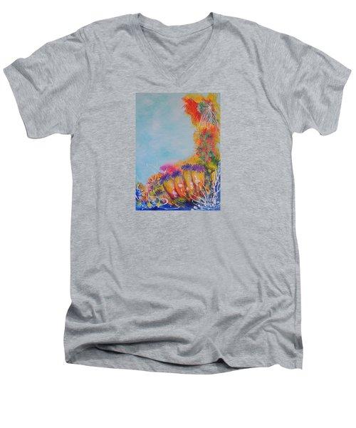 Reef Corals Men's V-Neck T-Shirt