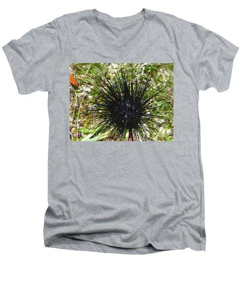 Reef Life - Sea Urchin 1 Men's V-Neck T-Shirt by Exploramum Exploramum