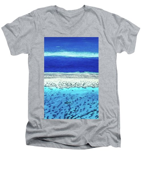 Reefs Edge Men's V-Neck T-Shirt by Az Jackson