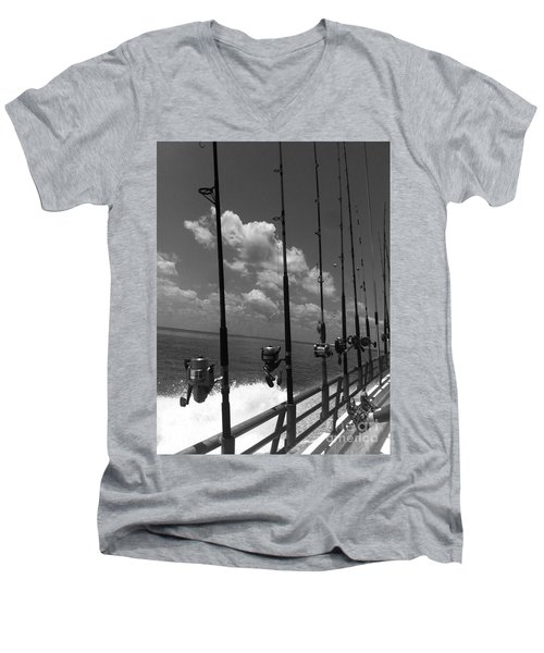 Reel Clouds Men's V-Neck T-Shirt by WaLdEmAr BoRrErO