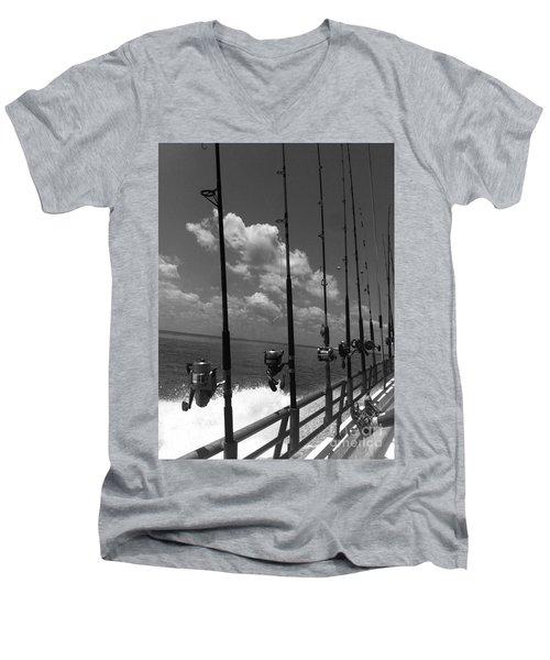 Reel Clouds Men's V-Neck T-Shirt