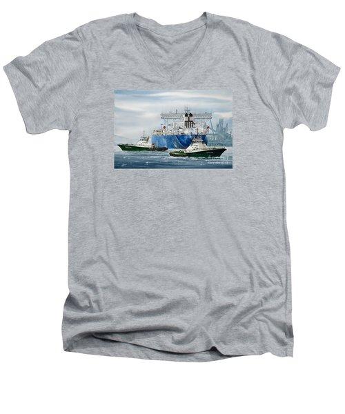Refinery Tanker Escort Men's V-Neck T-Shirt