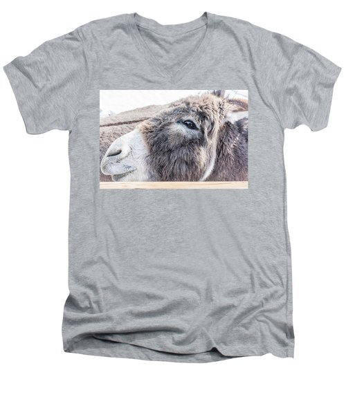 Reflected In His Eye Men's V-Neck T-Shirt