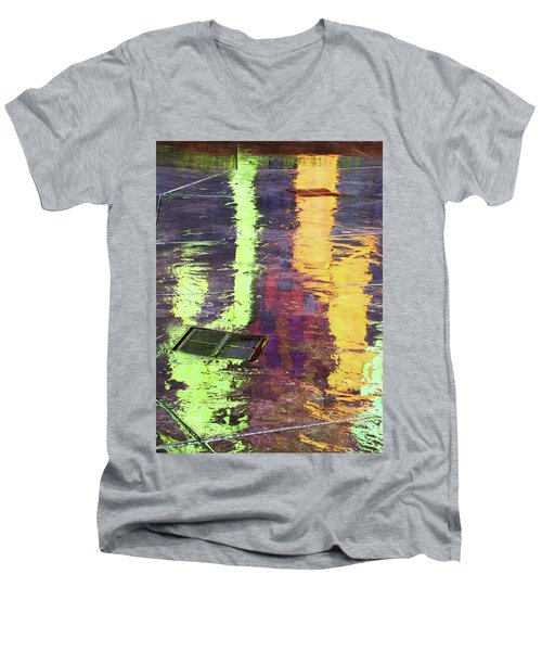 Reflecting Abstract Men's V-Neck T-Shirt