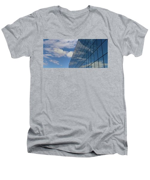 Reflecting On Today Men's V-Neck T-Shirt by Jeremy Tamsen
