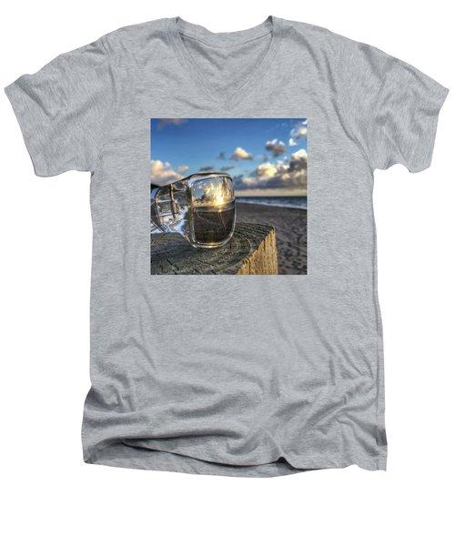 Reflecting Sunglasses Men's V-Neck T-Shirt