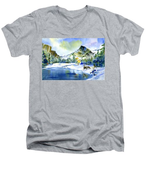 Reflecting Yosemite Men's V-Neck T-Shirt