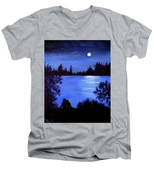 Reflection By The Water Men's V-Neck T-Shirt