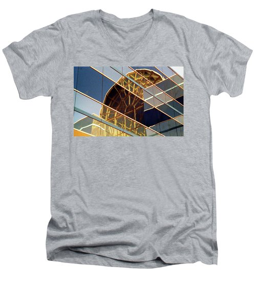 Men's V-Neck T-Shirt featuring the photograph Reflection by John Schneider