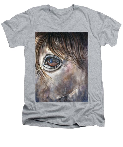 Reflection Of A Painted Pony Men's V-Neck T-Shirt