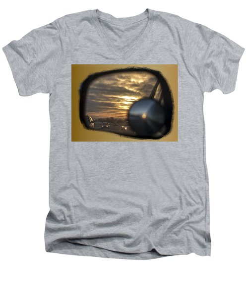 Reflection Of A Sunset Men's V-Neck T-Shirt