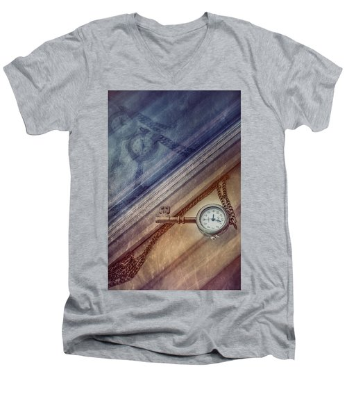 Reflection Of Time Men's V-Neck T-Shirt