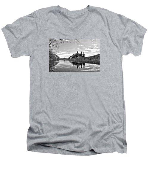 Reflection On The Lehigh Men's V-Neck T-Shirt by DJ Florek
