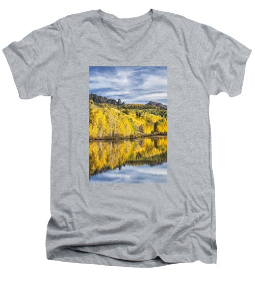 Reflection With Ophir Needles I Men's V-Neck T-Shirt