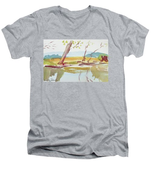Quiet Stream Men's V-Neck T-Shirt