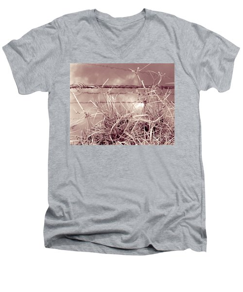Men's V-Neck T-Shirt featuring the photograph Reflections 1 by Mukta Gupta
