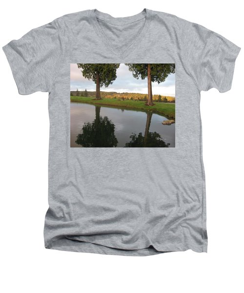 Reflections #183 Men's V-Neck T-Shirt by Barbara Tristan