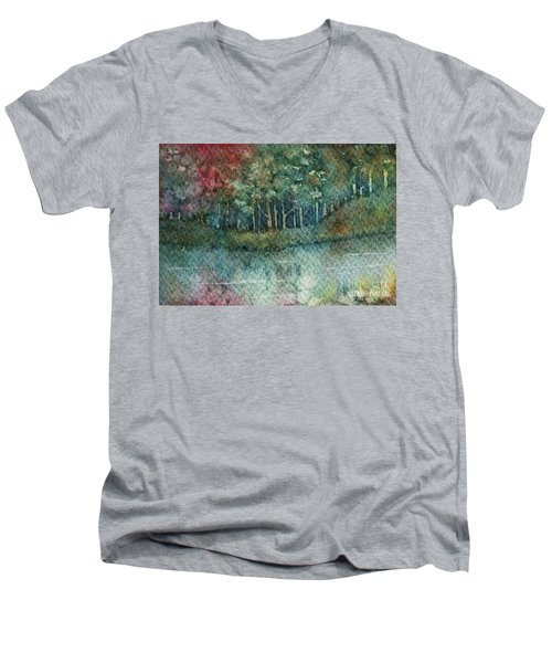 Reflections Along The Water Men's V-Neck T-Shirt