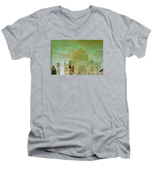 Reflections At The Taj Men's V-Neck T-Shirt