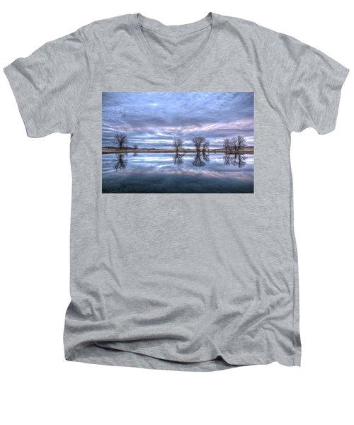 Reflections Men's V-Neck T-Shirt by Fiskr Larsen