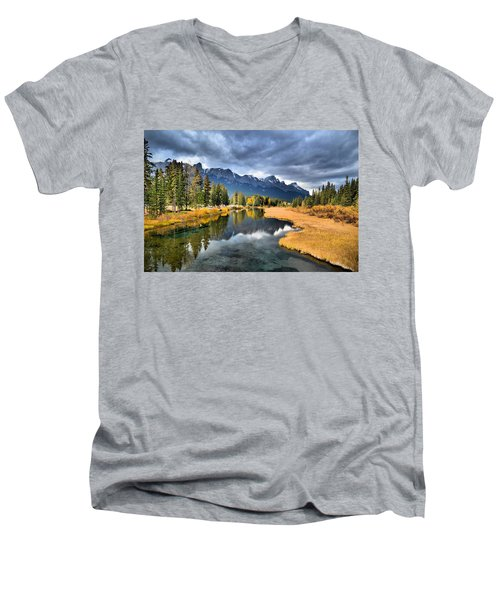 Reflections In Canmore Men's V-Neck T-Shirt