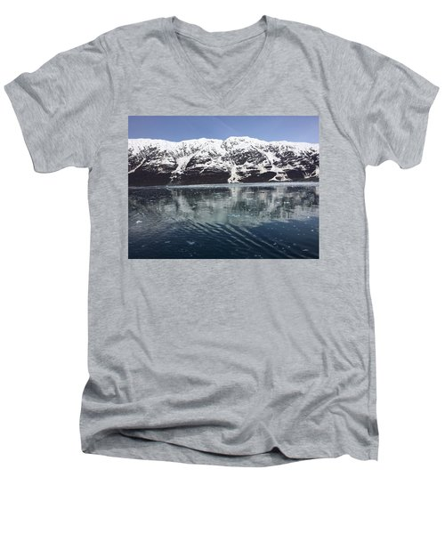 Reflections In Icy Point Alaska Men's V-Neck T-Shirt