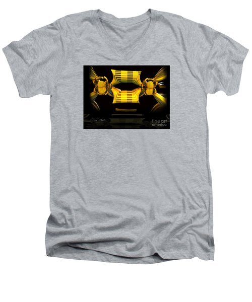Men's V-Neck T-Shirt featuring the digital art Reflections by Melissa Messick