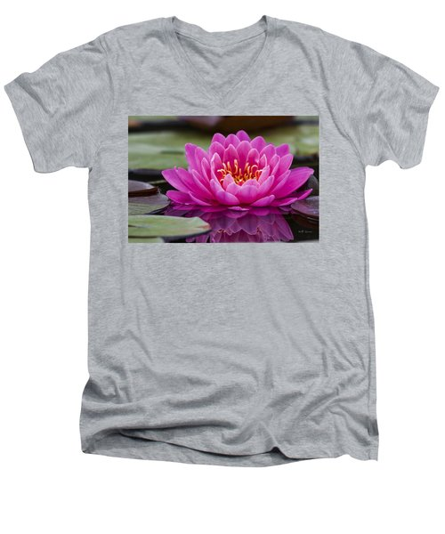 Reflections Of A Waterlily Men's V-Neck T-Shirt