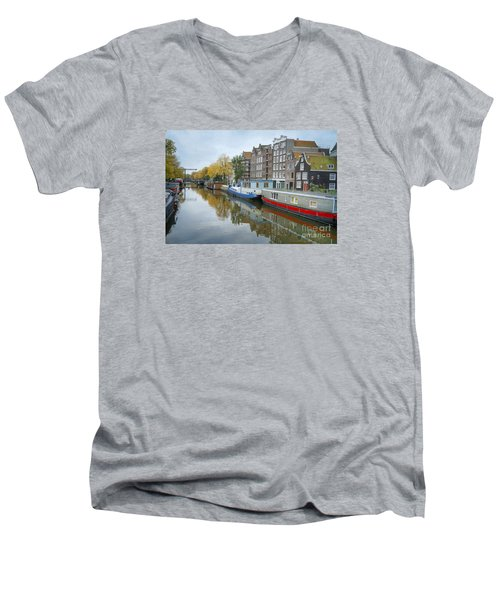 Reflections Of Amsterdam Men's V-Neck T-Shirt