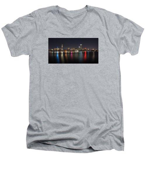 Reflections Of Boston Men's V-Neck T-Shirt