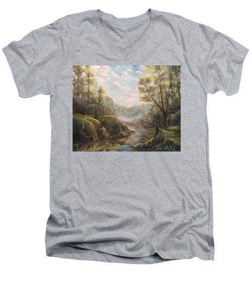 Reflections Of Calm  Men's V-Neck T-Shirt