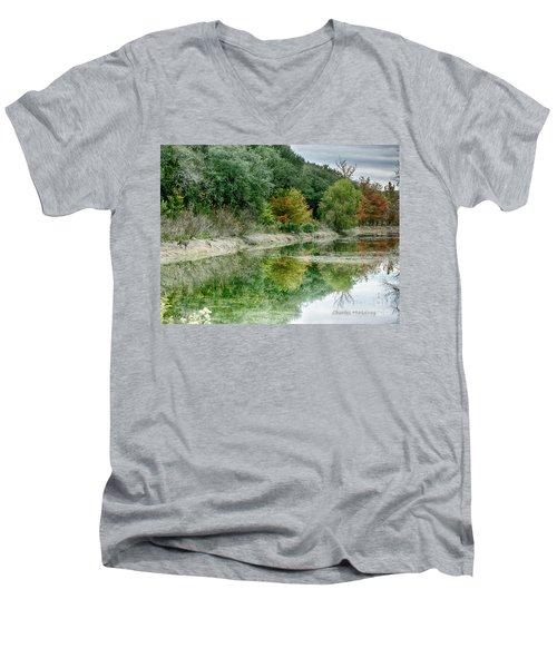 Reflections Of Fall Men's V-Neck T-Shirt
