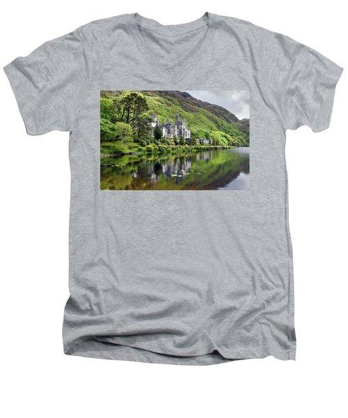 Reflections Of Kylemore Abbey Men's V-Neck T-Shirt