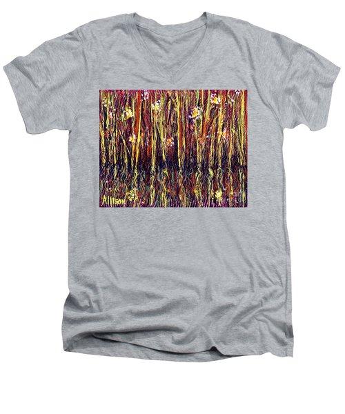 Reflections Of Mt. Dora Florida  Men's V-Neck T-Shirt