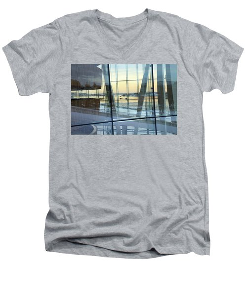 Men's V-Neck T-Shirt featuring the photograph Reflections Of Oslo by David Chandler