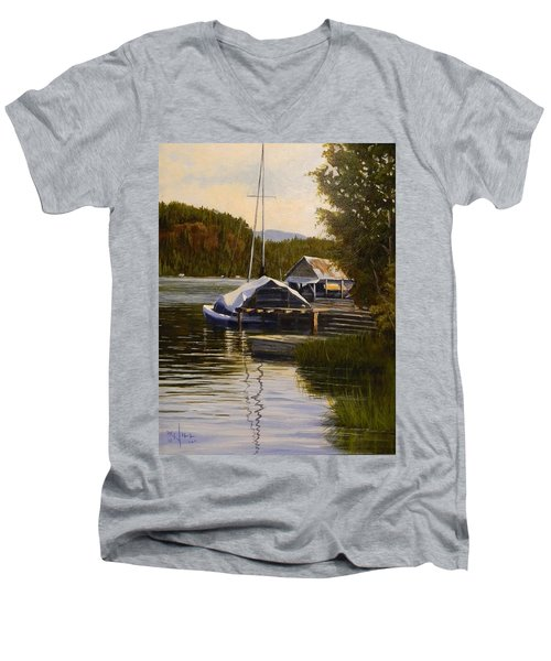 Reflections Of Summer Men's V-Neck T-Shirt