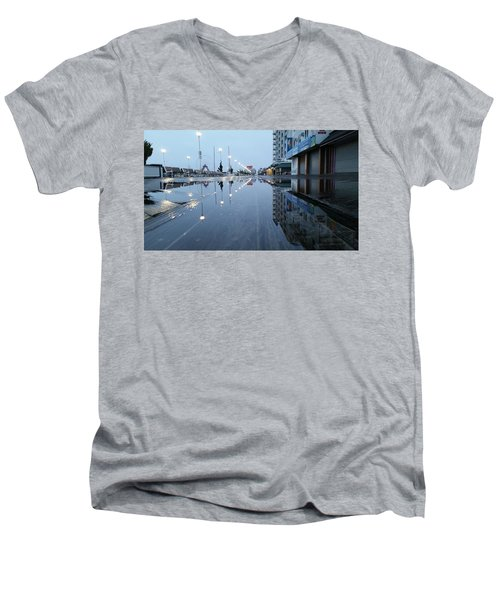 Reflections Of The Boardwalk Men's V-Neck T-Shirt