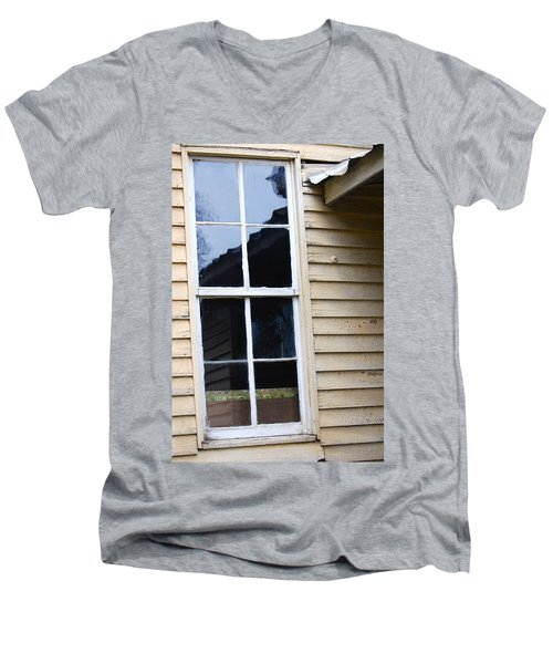 Men's V-Neck T-Shirt featuring the photograph Reflections Of The Past by Debbie Karnes