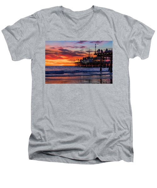 Reflections Of The Pier Men's V-Neck T-Shirt