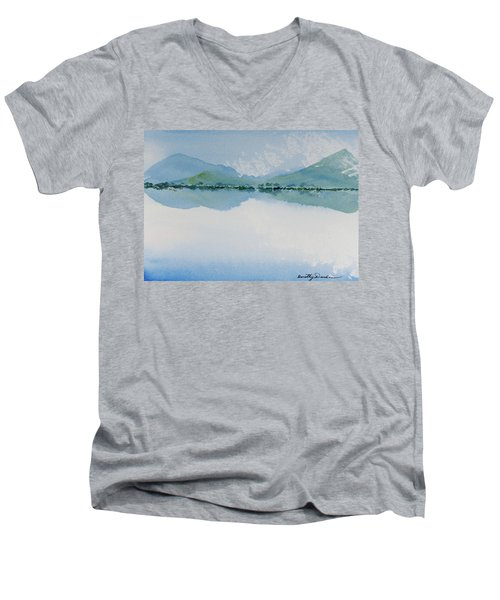 Reflections Of The Skies And Mountains Surrounding Bathurst Harbour Men's V-Neck T-Shirt
