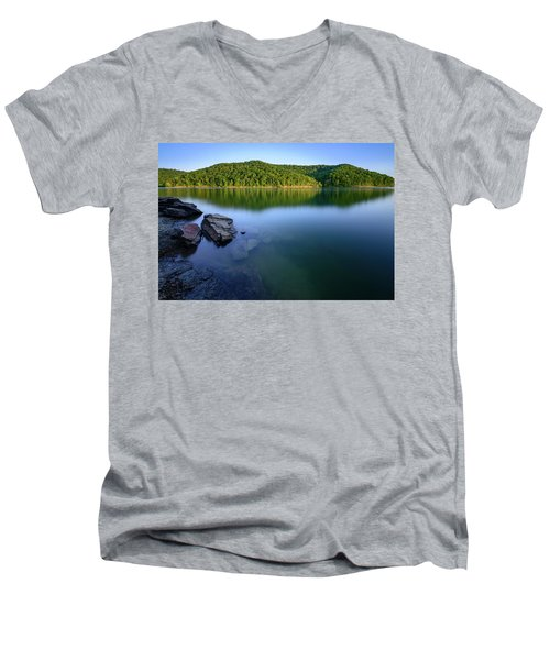Reflections Of Tranquility Men's V-Neck T-Shirt