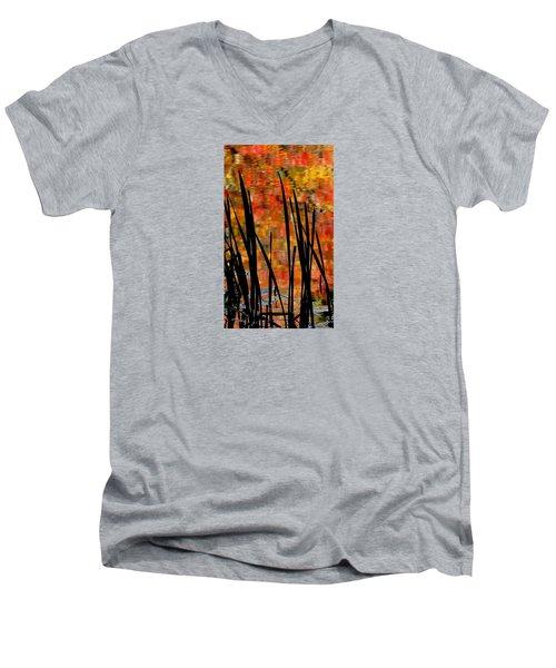 Reflections On Infinity Men's V-Neck T-Shirt by Angela Davies