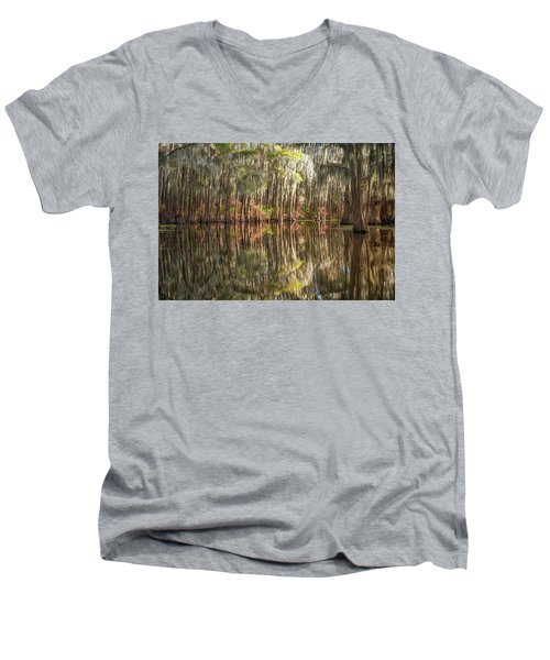 Reflections On The Bayou Men's V-Neck T-Shirt