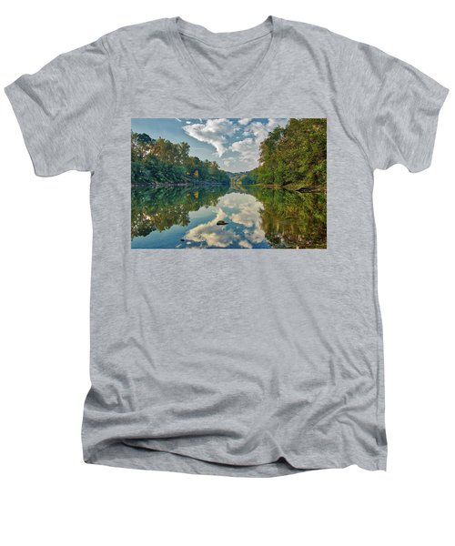 Reflections On The Meramec Men's V-Neck T-Shirt