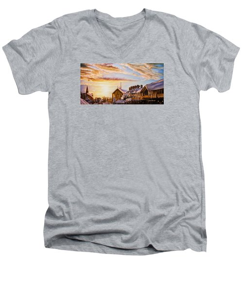 Reflections On The Snow Men's V-Neck T-Shirt