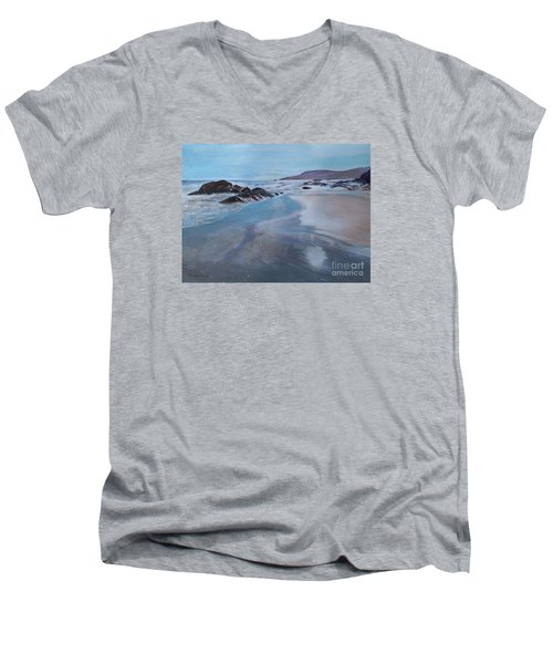 Reflections - Painting Men's V-Neck T-Shirt by Veronica Rickard